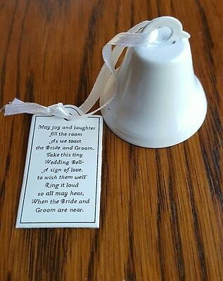 NEW Lot of 25 White Wedding Bell Favors Bridal supplies party bridal shower