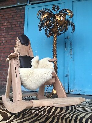 Extravaganter Rocking Chair Schaukelstuhl Mit Lammfellsuflage Top !