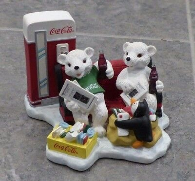 Coca ColaPolar Bear Cub Collection Figurine,1998 Passing Day in Special Way, Box