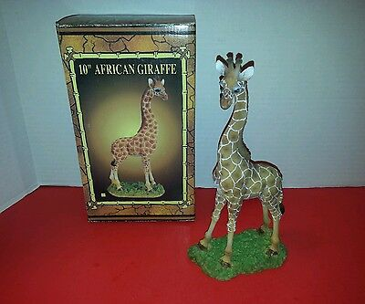 "10"" African Giraffe Statuette - Safari Collection with Box"