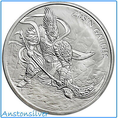 2017 South Korea 1 oz Silver Zi:Sin Series - Gallus Medal ENCAPSULATED