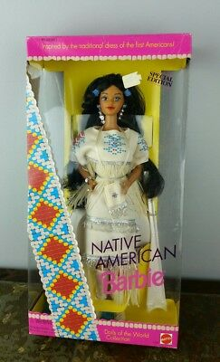 Vintage 1992 Native American Barbie 1st Edition Dolls of the World Collection