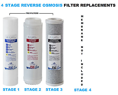 4 Stage Reverse Osmosis RO Complete Pre Filters Replacement  AQUATI