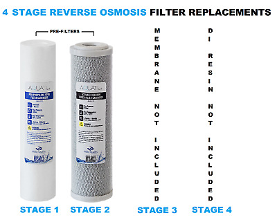 4 Stage RO & DI System Pre Filters Replacement  Set  Aquati