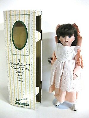 "SIGNED, NUMBERED SEYMOUR MANN CONNOISSEUR COLLECTION 16"" DOLL & STAND porcelain"