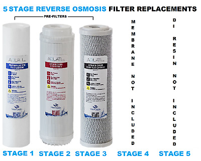 5 Stage Reverse Osmosis RO Complete Pre Filters Replacement  AQUATI