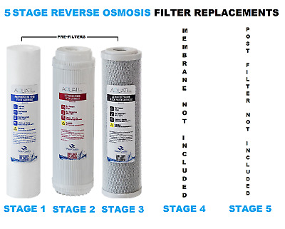5 Stage Reverse Osmosis RO Pre Filters Replacement   AQUATI