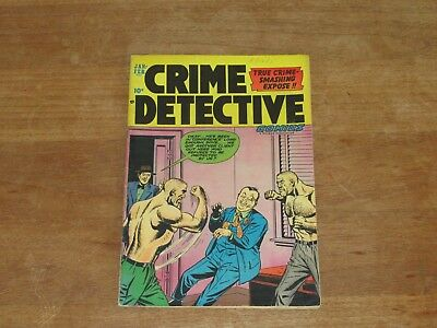 Crime Detective Comics Vol 3 #6 High Grade Vf+ Golden Age Comic Hard To Find!!
