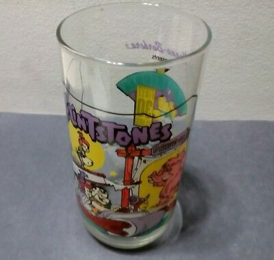 """1991 Flintstones First 30 years Glass """"Going to the Drive-In"""" Hardies"""