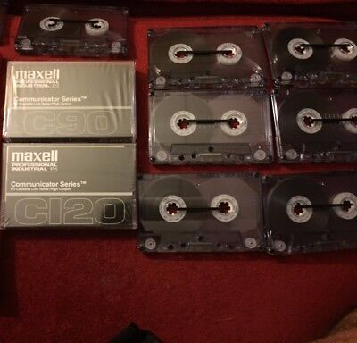Lot of 12 MAXELL Professional Ind. Communicator C120 C90 Cassette Tapes DUP-120