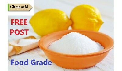 Citric Acid Anhydrous Food Grade Quality Product C₆H₈O₇ 100G_20KG FREE POSTAGE