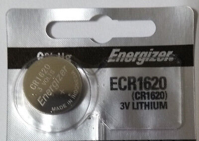 Genuine Energizer CR1620 3v Lithium Battery Coin Cell 81mAh Exp 2024