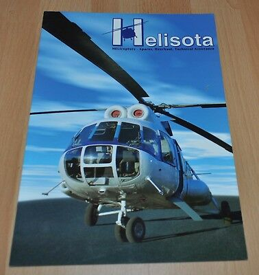 Helisota Lithuania Helicopters Repair Factory Brochure Russian MI-8