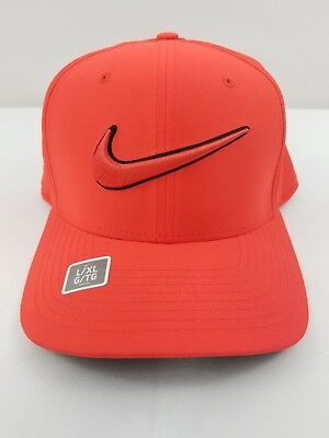 35dc9b1b6 NWT MEN'S ORANGE Nike Golf Classic 99 Swoosh Hat Fitted Cap M/L & L/XL  868378