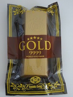 iBLOOM Jumbo Gold Bar Squishy GOLD 9999 Rare AUTHENTIC