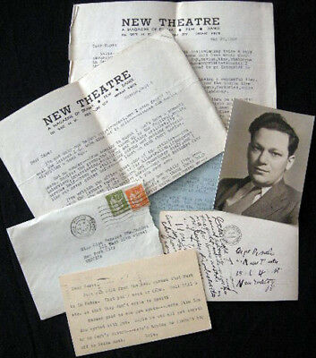 1936 - 1937 Communist Party Usa Herb Kline Moscow Letters Signed & Ephemera