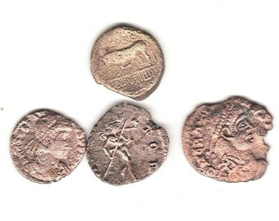 (Lot Of 4) Interesting Lot Of Ancient Coins,  Greek And Roman See Scan's