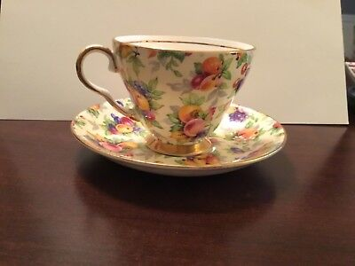 Royal Winton Evesham Cup & Saucer 1951