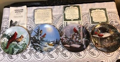 4 Cardinal Collector Plates With Certificates Of Authenticity