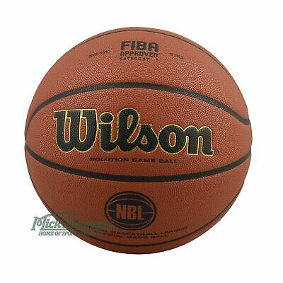NEW Wilson Solution Official NBL Game Ball Indoor Basketball