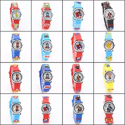 CHILDREN'S WATCHES Superhero Cartoon Character Quartz Popular Kids Watches