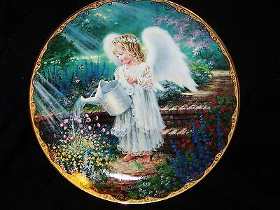 "Bradex Limited Edition Plate 1996 Issue #3 in GARDEN BLESSINGS ""An Angel's Gift"""