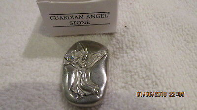 NEW BOXED AVON Guardian Angel STONE, SILVER STONE, NOS 2001