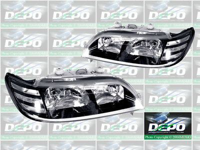 DEPO JDM Pair Of Euro Style Black Housing Headlights For 1997 1999 Acura CL
