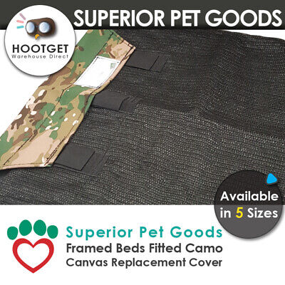 Superior Pet Goods Camo Canvas Raised Dog Bed Replacement Cover- XS,S,M,L,XL