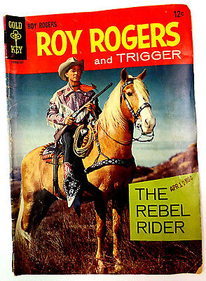 Gold Key Comics Roy Rogers and Trigger # 1 1958 Vintage Western Comic Book