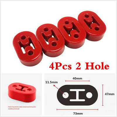 4Pcs 11.5mm Sports Car Exhaust Hanger Bracket Rubber Polyurethane Universal Fit