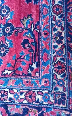 """Old Vintage Large Hand Woven Persian/Oriental Rug 11'9""""x8'10"""" Wine Red Floral"""
