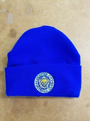 Leicester City  wooly Hat Beanie Hat The Foxes Blue Army
