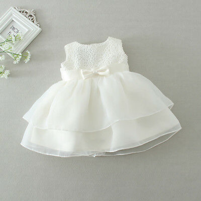 Infant Baby Girls Toddler Party Wedding Baptism Christening Dress US Stock