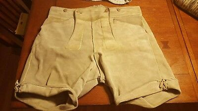 VINTAGE MENS GERMAN LEDERHOSEN LEATHER Edeliveir EURO 54 USA 38-40 WAIST