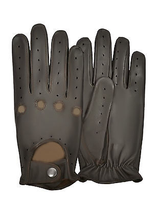 Men's Driving Gloves Real Leather Lambskin Chauffeur Style Dress Fashion Classic