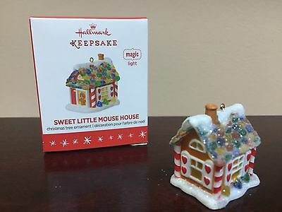 Hallmark Miniature Ornament 2016 Sweet Little Mouse House