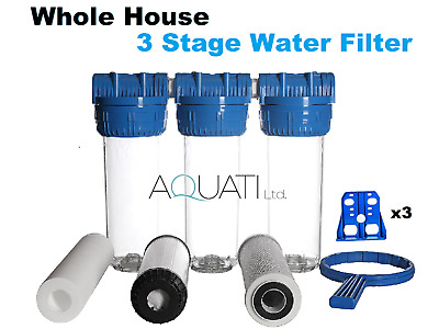 """Whole House Water Filter Dechlorinator Chlorine Removal Water Purifier 3/4"""" BSP"""