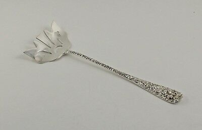 """Stieff Rose Sterling Silver Bacon Fork - 8 1/4"""" - No Monograms"""