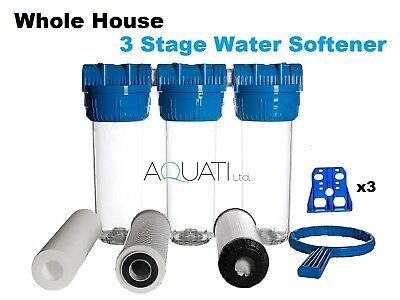 "Whole House Water Purifier and Softener Filter - Salt Free 3/4"" BSP"