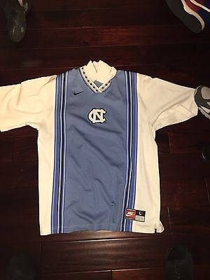 NIKE UNC North Carolina Tar Heels Vintage 90s Warm Up Shooting Jersey Size L