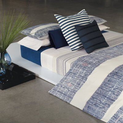 Calvin Klein ~ QUEEN Bed Blanket ~ Montauk Harbor Stripe ~ Yarn Dyed Cotton $225