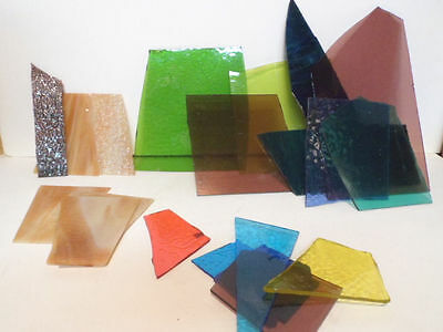 12 1/2 pounds of Antique Slag Glass from Demolition a Rainbow of Colors