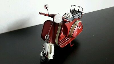 Modell Clayre&Eef shabby17x8x10 rot Blechmodell Vintage  Motorrad Scooter 50015
