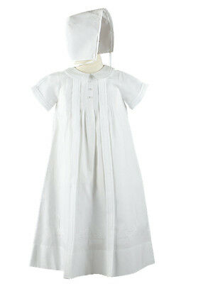 Feltman Brothers Boys Christening Gown w/Hat White in Garment Bag NWT NB 6m 9m