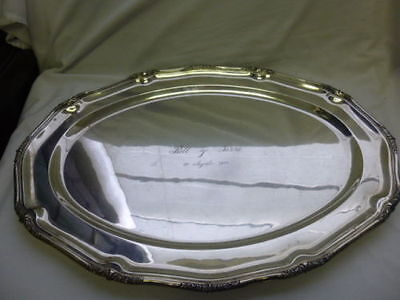 """VINTAGE extra LARGE SANBORN STERLING SILVER TRAY  2289.45 GRAMS 17""""x24"""""""