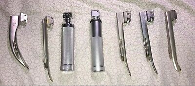 SALE 2 Sets Laryngoscope Assrtd MAC Flex Blades Handle Anesthesia Sets
