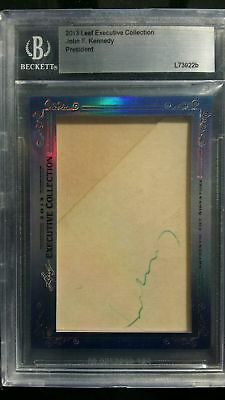 President John F. Kennedy 2013 Leaf Executive Collection Auto Signature Beckett