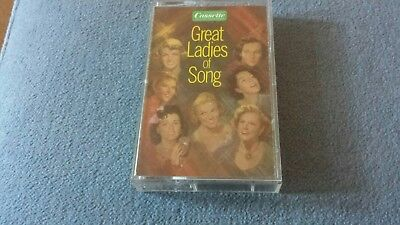 "Vintage Cassette Tape ""Great Ladies of Song"" Various artists-Tape 1"