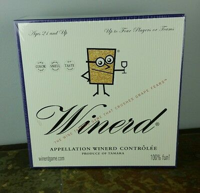 New Winerd Wine Trivia and Blind Tasting Adult Board Game Sealed